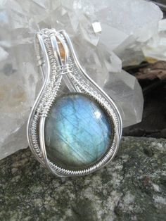 Labradorite and Yellow Sapphire Wire Wrap by SweetWaterSilver, $179.00