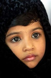 how could people ignore the potential of peace in this beautiful little girl from Gaza......