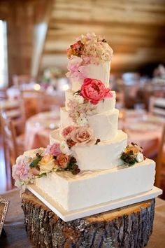 wedding cake idea; Via Tiffany's Baking Co.
