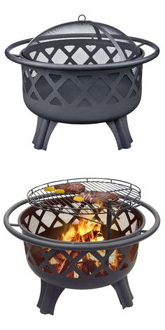 "It's a firepit and an outdoor grill. ""Perfect for an everyday firepit during the cool nights. Love the adjustable grill grate. Perfect for raising the grate and grilling some skirt steak and veggies while still having space under to grill dogs and marshmallows."" --Home Depot customer ""depotlovingmomma"""