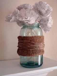 DIY Shabby Country Chic vintage mason jar! I am so proud of myself!! :)