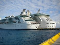 Grandeur of the Seas (on the left) in Costa Maya, Mexico