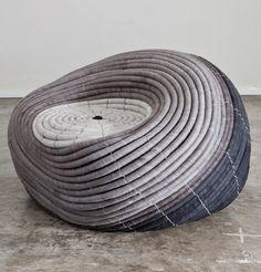 Ronelle Jordaan_Ndebele Chair_ hand felted merino wool