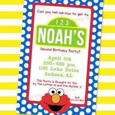 Sesame Street Invitation Elmo Birthday Invitations Party Invites Ideas