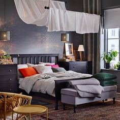 The release of a new catalog by IKEA is surely one of the main events of the year in the interior design industry. One can compare this with new car ✌Pufikhomes - source of home inspiration Ikea Bedroom, Living Room Bedroom, Bedroom Decor, Bedroom Furniture, Ikea France, Long Drive, Cheap Apartment, Bohemian Style Bedrooms, Home Decor Store