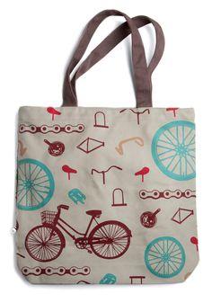Gotta Get Going Tote - the perfect bike girl bag!