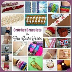 Crochet Bracelets ~ 25 FREE Crochet Patterns