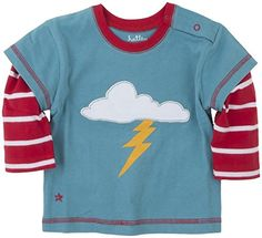 Hatley  Baby Boys Newborn Boys 2 In 1 Tees Storm Blue 612 Months -- To view further for this item, visit the image link.