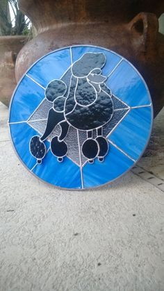 Poodle Stained Glass | eBay