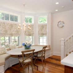 kitchen window seat with table - Google Search