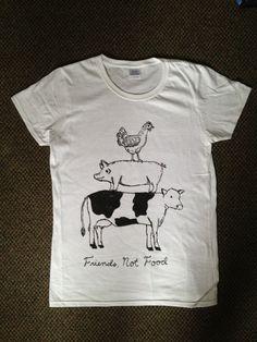 Friend Not Food Vegan/Vegetarian Tshirt by VeganVeins on Etsy