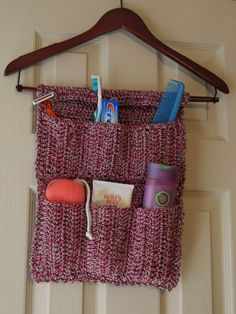 organizer for a small bathroom or for traveling. Could be modified for curling irons or many other uses