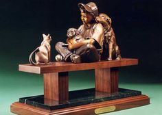 """The Peacekeeper  bronze, Edition of 100   14"""" x 17"""" x 8"""""""