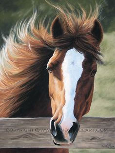 pastel painting of a horse. Love