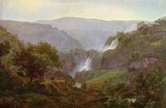 johann martin von rohden - waterfall in tivoli, 1800-1810, oil on canvas (hamburguer kunsthalle)