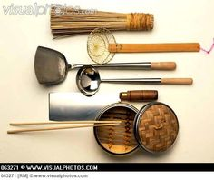 Assorted Asian Kitchen Utensils /StockFood-FoodPhotography Eising #AsianCooking #Utensils #Equipment