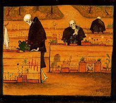 The Garden of the Dead, 1896 - Hugo Simberg