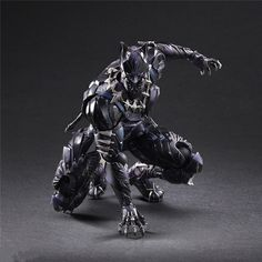 Sidewalk Toys and Square Enx are excited to present, the Marvel Universe Variant Play Arts -Kai- Black Panther! Black Panther has become a world-renowned comic Black Panther Marvel, Black Panther Art, Black Panther Hd Wallpaper, Comic Book Characters, Marvel Characters, Comic Character, Marvel Dc Comics, Marvel Heroes, Marvel Avengers