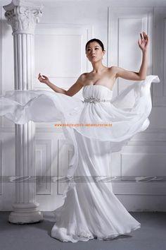 Sexy Elegante Brautkleider 2013 aus Chiffon mit Perlenstickerei