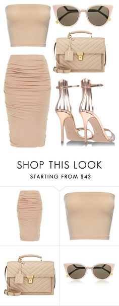 """Nude."" by zoemikaa ❤ liked on Polyvore featuring Gianvito Rossi, Yves Saint Laurent and Fendi"