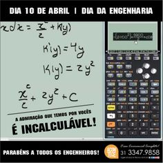 #DiadaEngenharia - Dia 10 de Abril!!!  Parabéns Engenheiros e Futuros Engenheiros!!!   #Engenharias #AconteceCerimonial