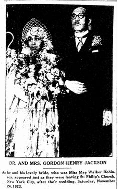 "Wedding photo published in the Broad Ax newspaper (Chicago, Illinois), 8 March 1924, page 1. Read more on the GenealogyBank blog: ""Ancestor Weddings: Genealogy Tips for Finding the Dress."" http://blog.genealogybank.com/ancestor-weddings-genealogy-tips-for-finding-the-dress.html"