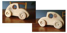 Voiture en bois faite à partir de chutes de palette (dimensions environ L16 x h9 cm)