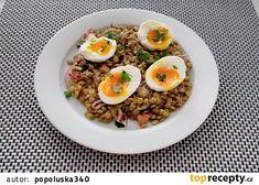 Čočkový salát s vejci recept - TopRecepty.cz Ethnic Recipes, Food, Diet, Essen, Meals, Yemek, Eten