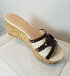 TOMMY BAHAMA WOMEN'S CORK PLATFORM WEDGE SANDAL SHOES PINEAPPLE BEIGE SZ 7B EUC | Clothing, Shoes & Accessories, Women's Shoes, Sandals & Flip Flops | eBay!