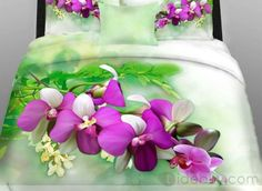 Fresh Floral and Leaves of Printed 4 Piece bedding Sets of 100% Cotton : Tidebuy.com