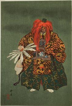 "Tsukioka Kogyo  Japanese, 1869-1927    Kurama Tengu, from the series ""One Hundred No Dramas (Nogaku hyakuban)"", 1898-1903    Color woodblock print.  The Art Institute of Chicago"