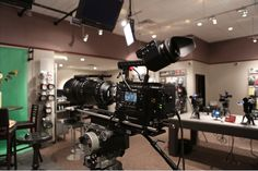 Sony F55 with Element Technica Top Plate, Manhandle, EVF Spud Adapter and Studio Power Riser @ Abelcine Seminar