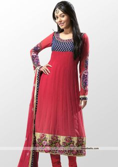 *~*Best gift for Eid*~* Gift this Eid your loved one a very special ethnic cum stylish salwar kameez. Click here to buy it at Goodbells.com online: http://goodbells.com/salwar-suits/full-length-red-shade-salwar-kameez.html?utm_source=pinterest_medium=link_campaign=pin10julyR31P8
