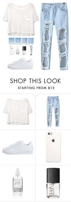 """""""Feels"""" by bb123456789 ❤ liked on Polyvore featuring MANGO, Chicnova Fashion, adidas Originals, Herbivore, NARS Cosmetics and Byredo"""