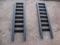 Automotive Ramps - Homemade automotive ramps fabricated from angle iron. Each ramp measures 48