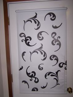 window shade stencil