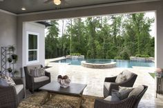 Keep an eye on guests and family in this beautiful indoor/outdoor space, in North Grove at Spring Creek, in Texas.