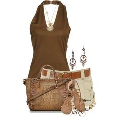 Halter and Shorts by jackie22 on Polyvore
