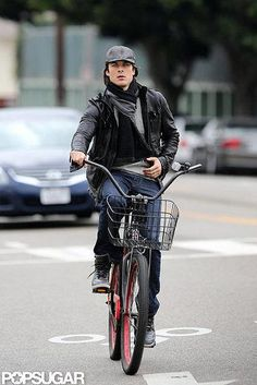 Ian Somerhalder, I want a ride... on your bike that is