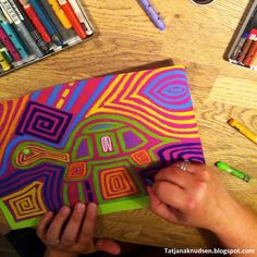 Meet The Creative Part of Me: Can you make mola designs on colored cardboard?