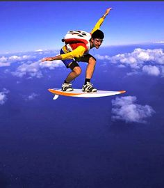 Can't swim? Just jump out of a plane and surf the sky. Who would have thought to make skydiving cooler?