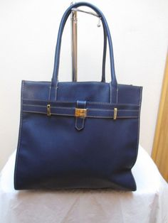 Tommy Hilfiger Handbag Tote 6930481 423 Color Blue Gold Retail $99.00 #TommyHilfiger #TotesShoppers