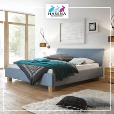 HASENA Dream-Line-Bett Lungo 28/4S mit Kopfteil Ripo und Fusselement Ivio Line, Furniture, Home Decor, Simple Lines, Bed, House, Decoration Home, Fishing Line, Room Decor