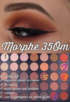 Morphe Palette Look. Step by step instructions youtu. Morphe Palette, Morphe 350 Palette Looks, Morphe Eyeshadow, Makeup Morphe, Morphe 35o, Eyeshadows, Fall Eyeshadow, Eyeshadow Ideas, Natural Eyeshadow