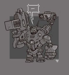 Mecha Sketch 7 by cwalton73 on DeviantArt