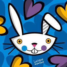 Blog da Geralda: Luciano Martins Kits For Kids, Crafts For Kids, Luciano Martins, Painted Rocks, Cute Art, Illustrators, Sonic The Hedgehog, Pop Art, Bunny