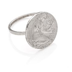 #German #ring by ChiaraSciortino on Etsy #handmade #italiasmartteam #etsy #etsyshop #shopping #giftidea #money #silver #coin