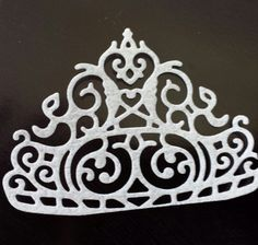 6 Edible Princess Crown/ Tiara Cupcake Toppers by ohSEWcuddly on Etsy
