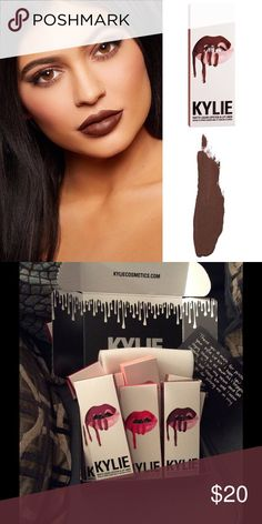 Kylie lipset True Brown Never opened authentic color True Brown Kylie Cosmetics Makeup Lipstick