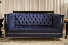 Navy anchor sofa:  Too clunky-looking, though